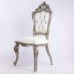 Chaise Mariage Blanche Et Argentee Collection De Meubles Chaise Baroque Chaises De Mariage