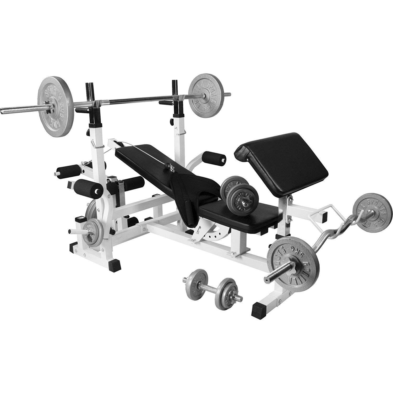 York Pro Series Squat Rack, Bench Press, EZE Curl Bar and