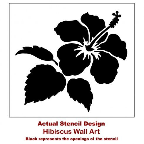 Hibiscus Flower Stencil Tropical Wall Art Stencils Stencil Wall Art Floral Stencil Flower Stencil Patterns