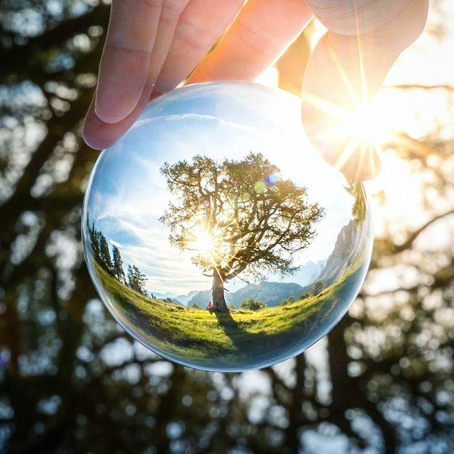 Hold an entire world in your hand. Check out the creator: @nejcheberle - his shots are downright incredible! #lensball