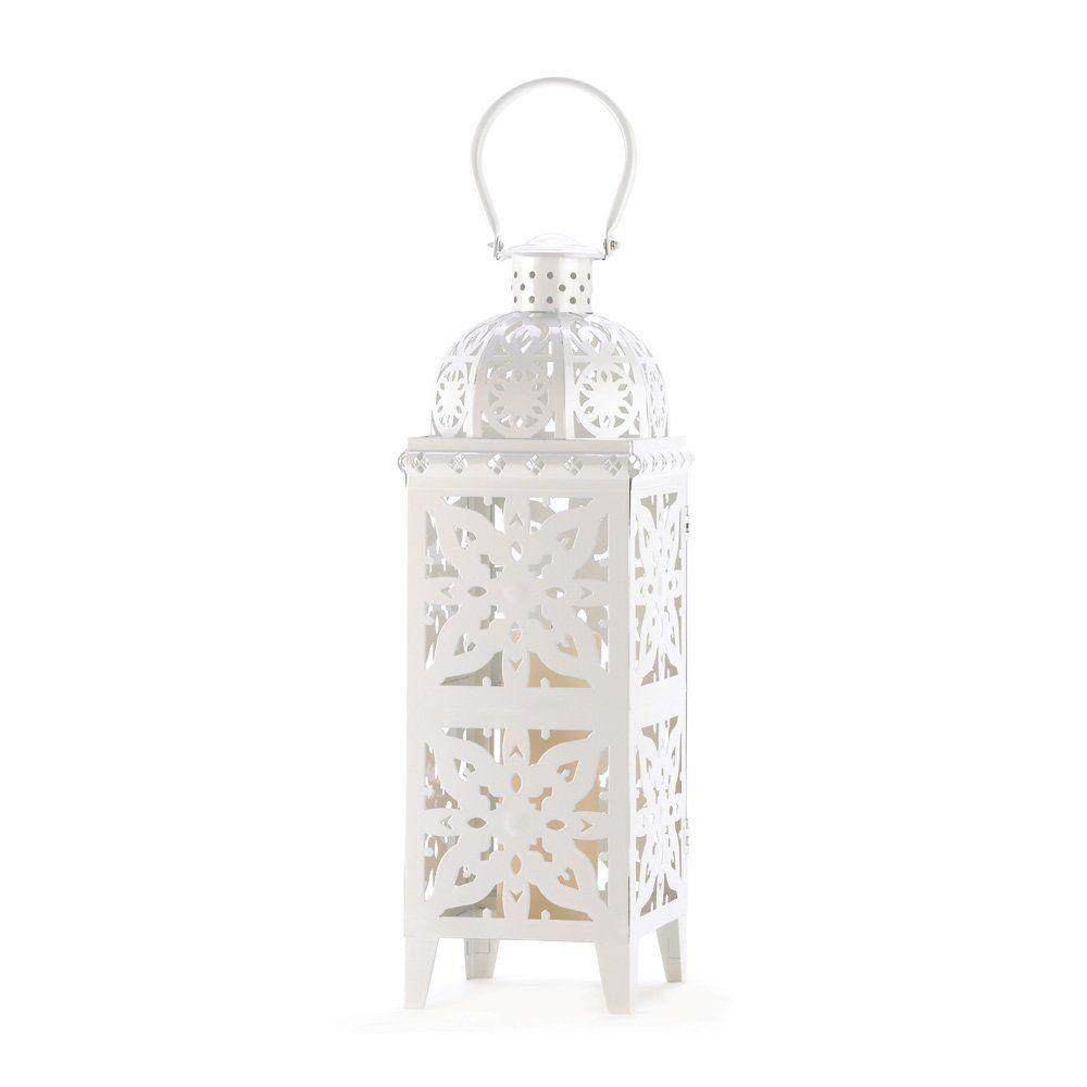 Amazon.com: 20 Wholesale Giant-Size White Medallion Lantern Wedding ...