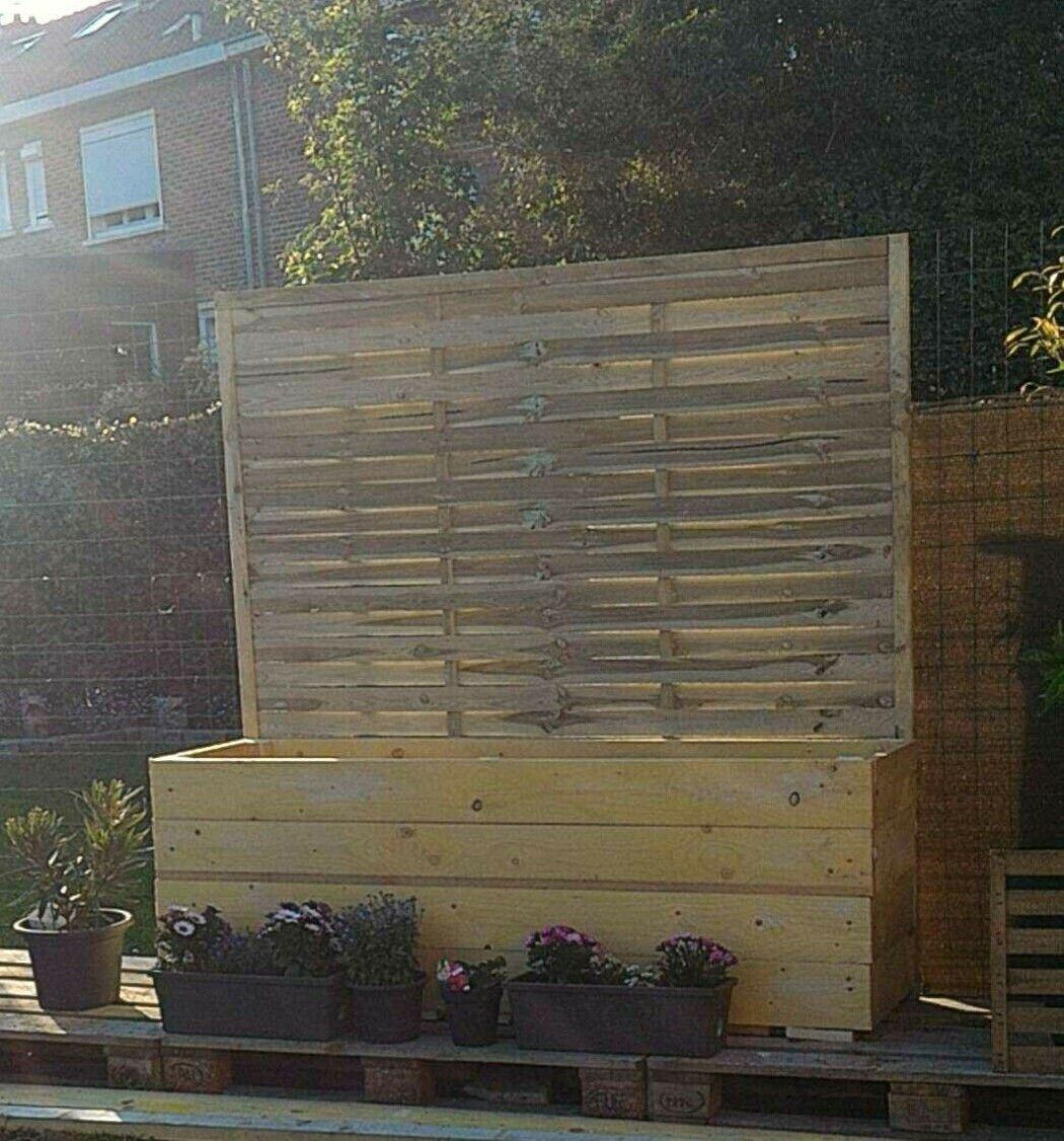 Mur Exterieur En Planche De Coffrage jardinière en bois fabriqué maison avec planche de coffrage