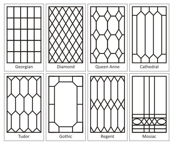 How to create a leaded glass look on your windows for Window design template