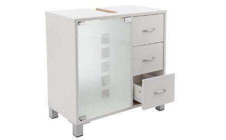 waschbeckenunterschrank mit 3 schubladen und glast r. Black Bedroom Furniture Sets. Home Design Ideas