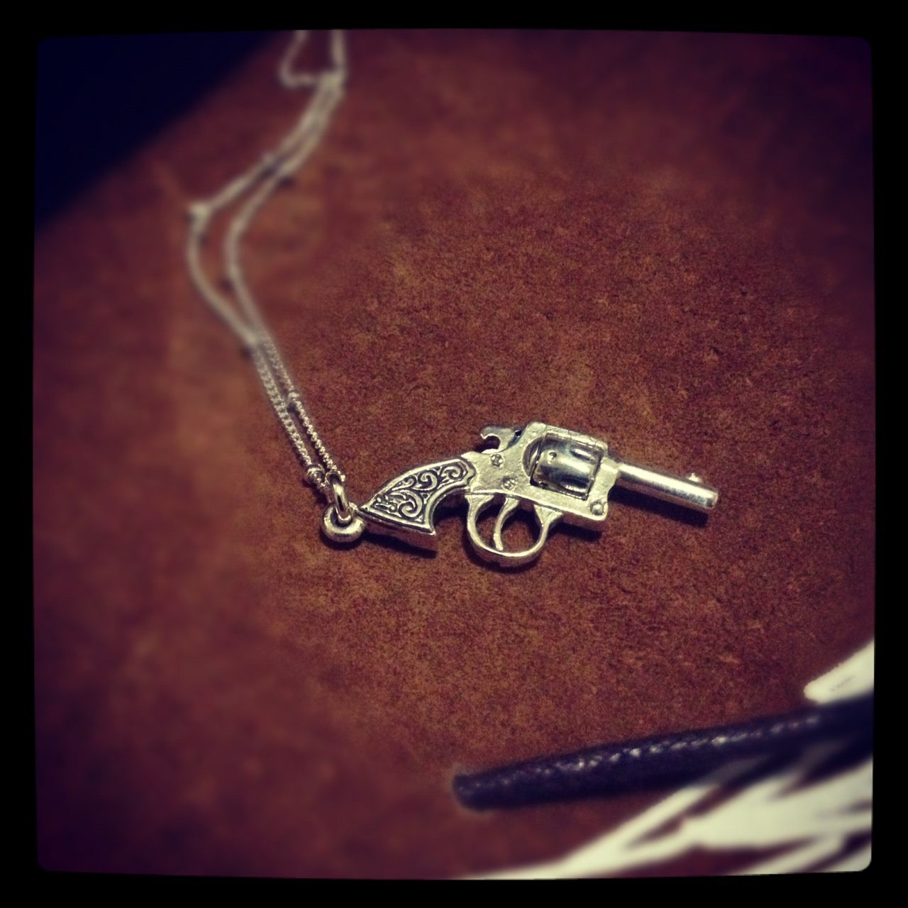 Vintage Revolver Pendant by Bowerbird.  Available at collectbowerbird.com