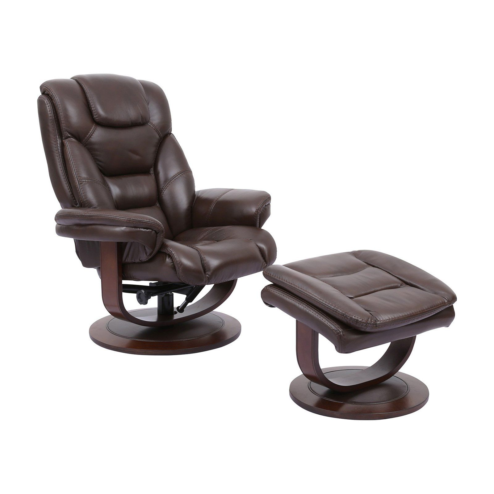 Amazing Parker House Monarch Swivel Recliner And Ottoman Robust In Unemploymentrelief Wooden Chair Designs For Living Room Unemploymentrelieforg