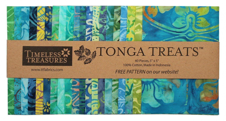 Prem Quality 100/% Cotton Batik//Per 1//2 Yard Timeless Treasures TONGA MINT 2