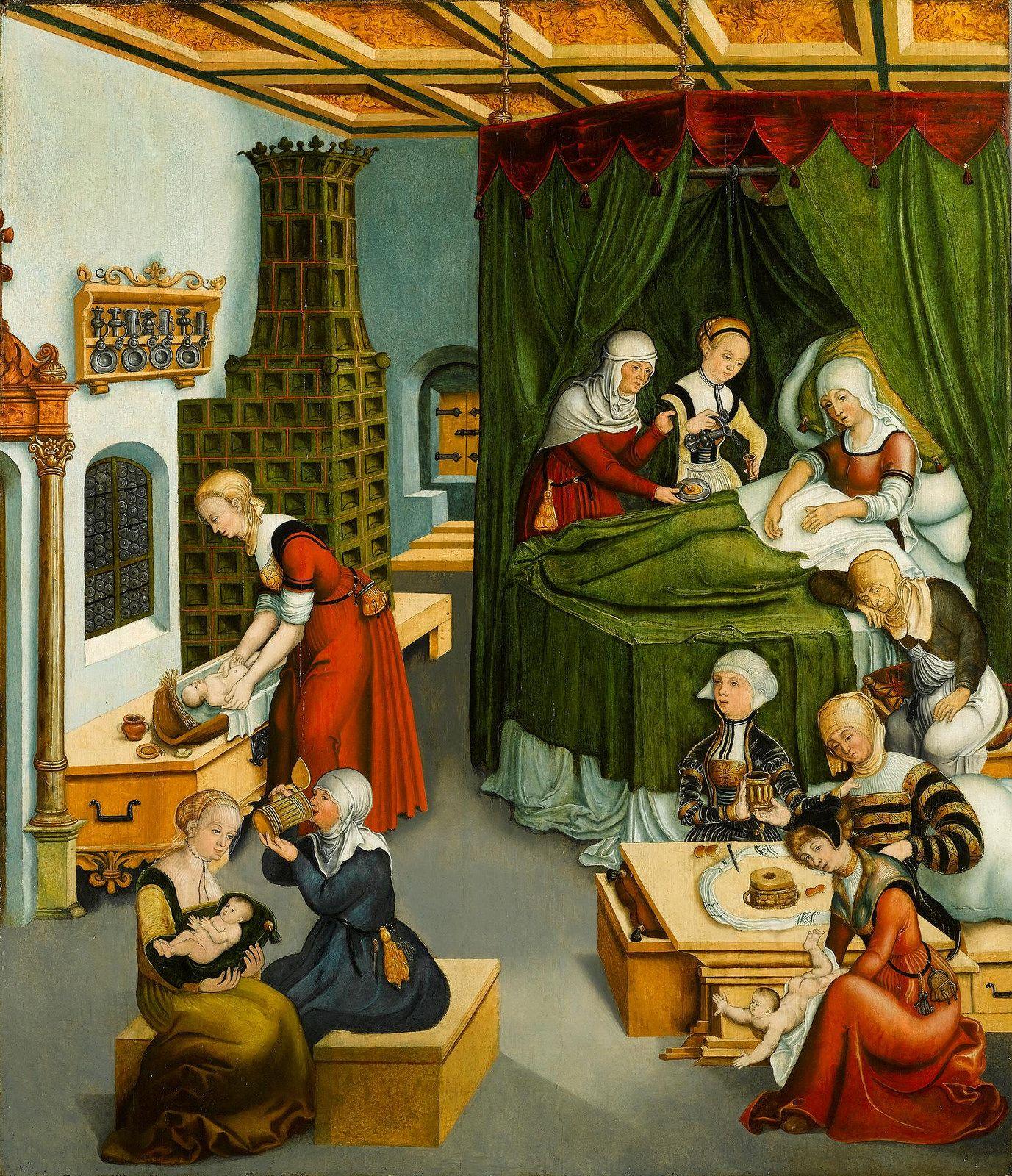 Circle of Lucas Cranach the Elder - The Nativity (Kronach 1472 - Weimar 1553) ,