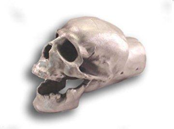 Unpolished Skull Exhaust Tip - Original