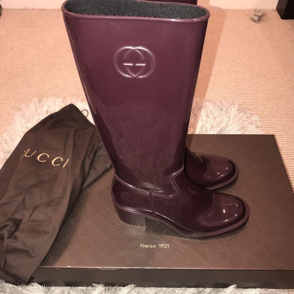 61879d8d85b Womens Brown Gucci Rain Boots size 37 (womens size 7)  fashion  clothing   shoes  accessories  womensshoes  boots (ebay link)