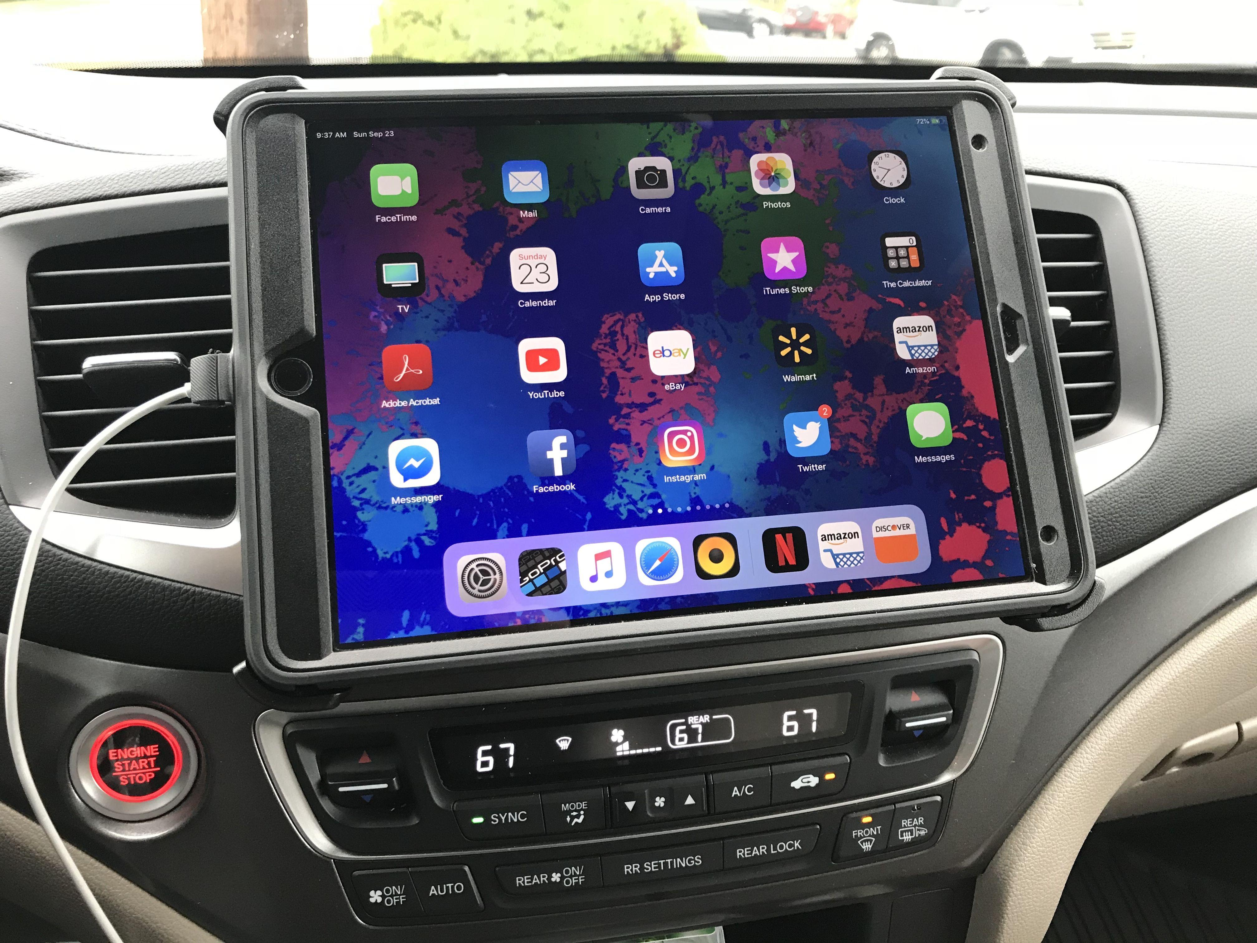 Ipad pro dash mount on honda pilot 2017 using otterbox