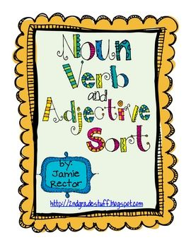 This FREE download contains a Noun, Verb, and Adjective Sort with a sorting mat, 24 word cards to sort, and a recording sheet.  I hope your kids en...