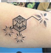 Photo of Molekül-Tätowierung, #floralmoleculetattoo #Molecule #Tattoo