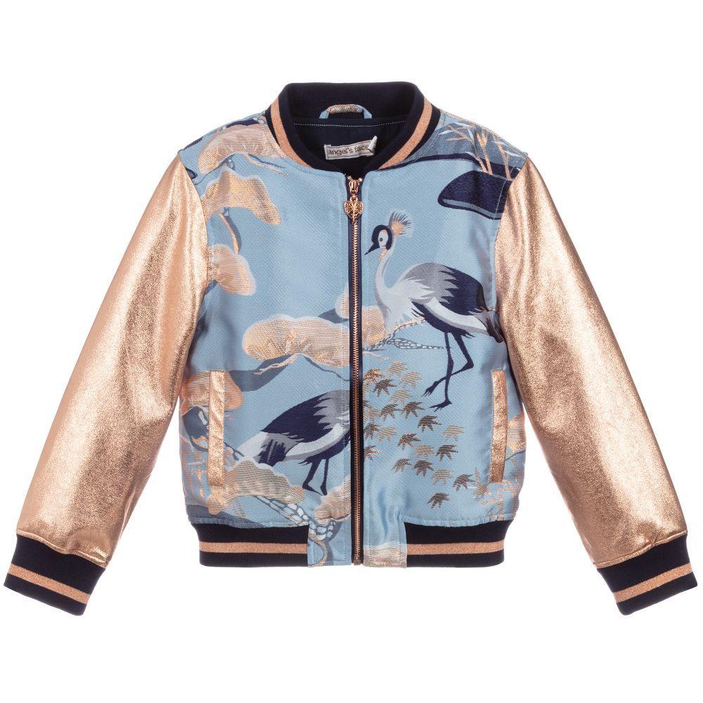 Blue Jacquard Bomber Jacket In 2021 Patterned Bomber Jacket Girls Bomber Jacket Bomber Jacket [ 1000 x 1000 Pixel ]