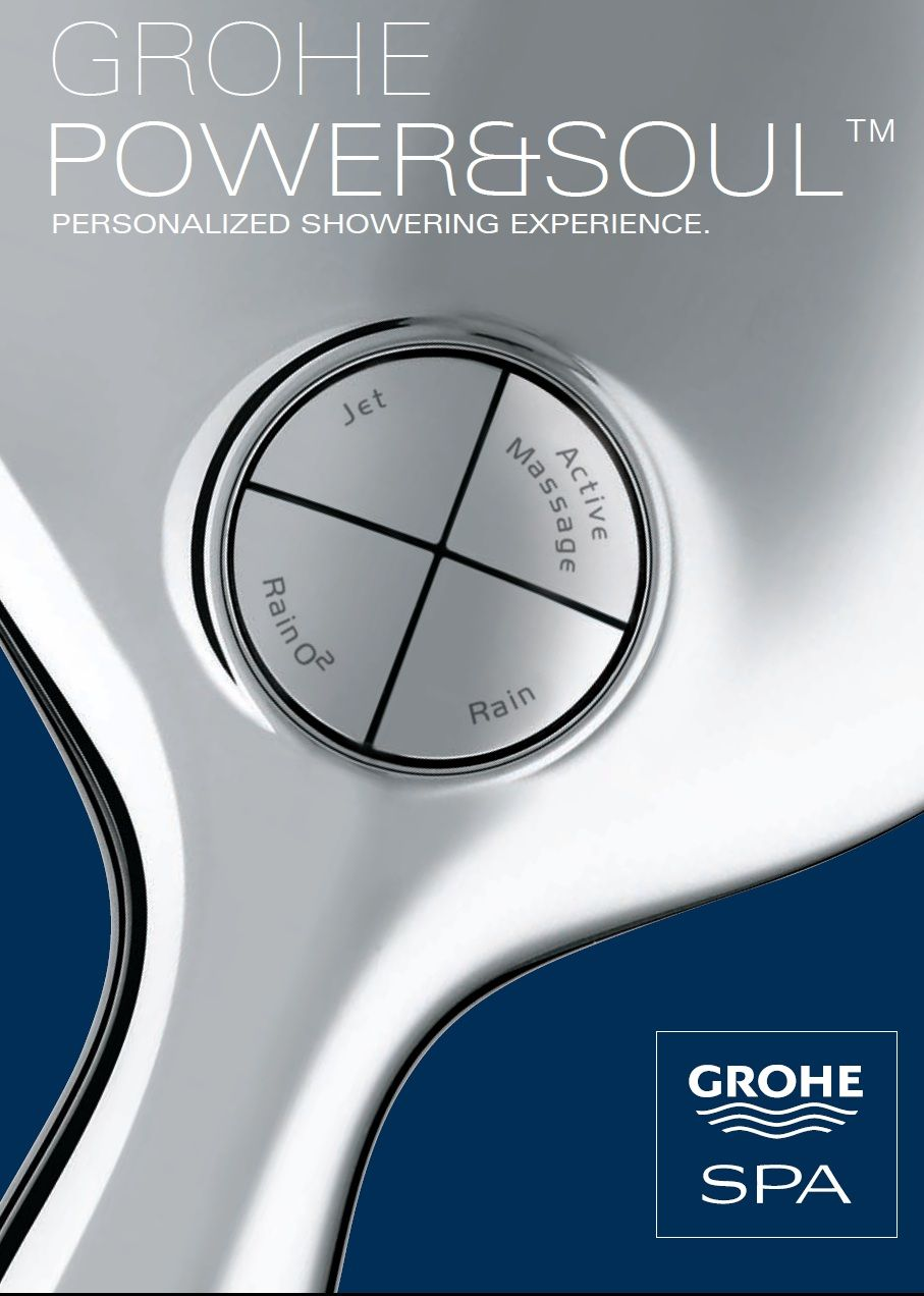 Photo of GROHE Power & Soul™ : Personalized shower according to your moods and needs. #…