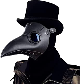 Amazon Com Plague Doctor Mask Plague Mask Black Plague Doctor Mask Steampunk Mask