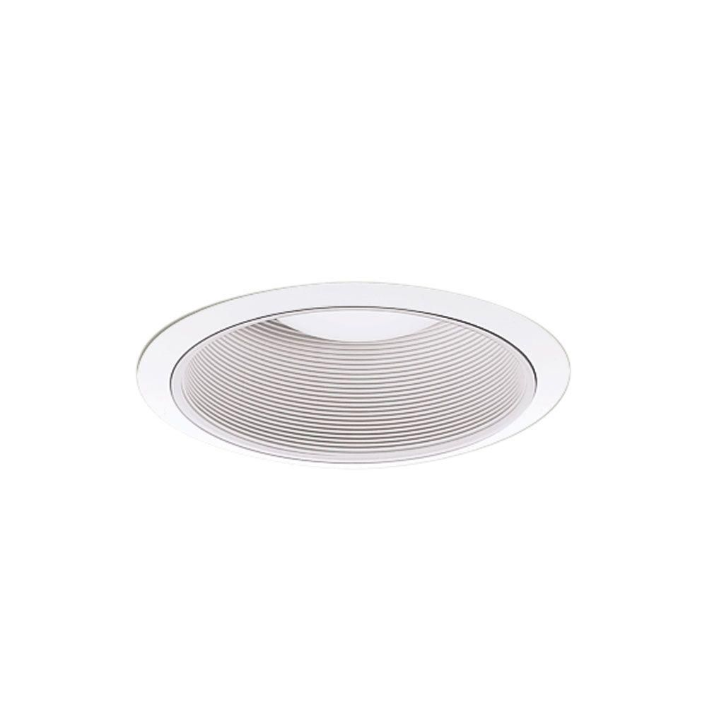 All Pro 6 In Gloss White Recessed Lighting Baffle And Trim