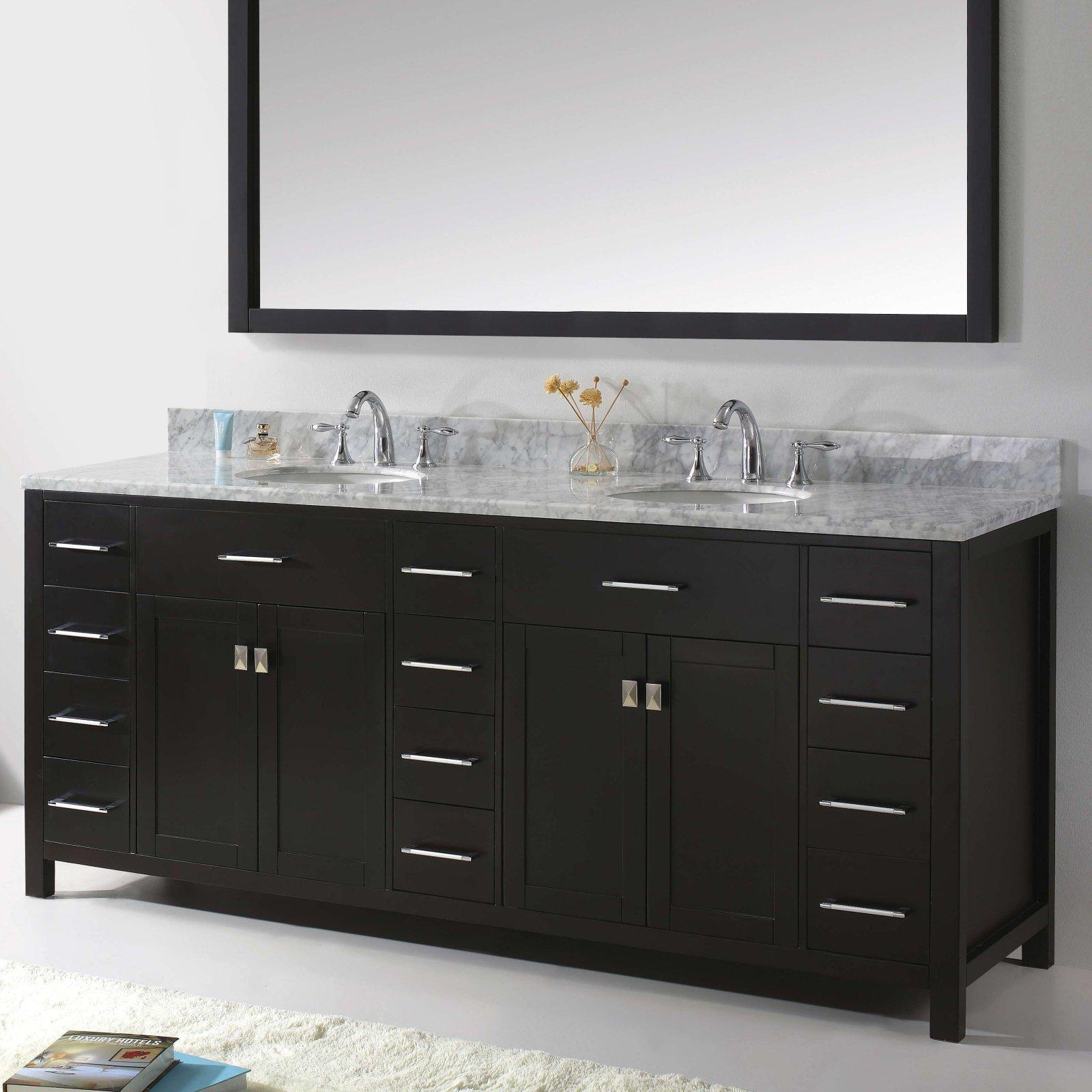 Virtu Caroline Parkway 78 In Double Bathroom Vanity Cabinet
