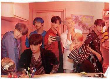 BTS Persona  - 2019 Group Photo Map of The Soul  Poster
