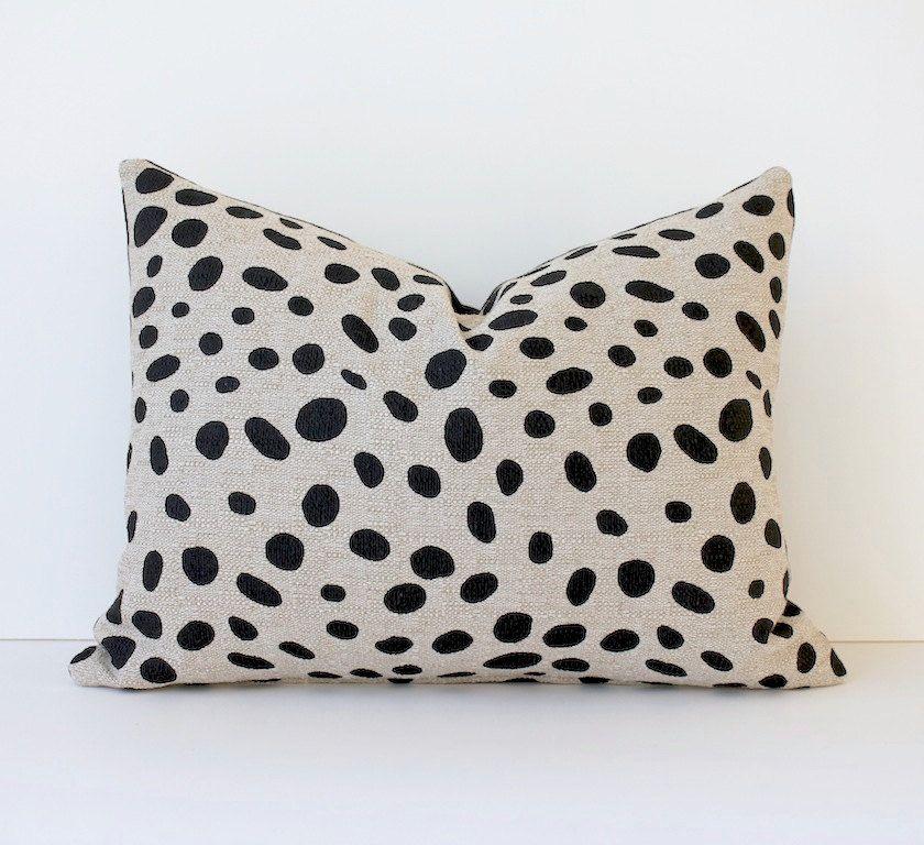 Trend Alert Dalmatian Print Home Decor: Polka Dots Modern Decorative Designer Pillow Cover Lumbar