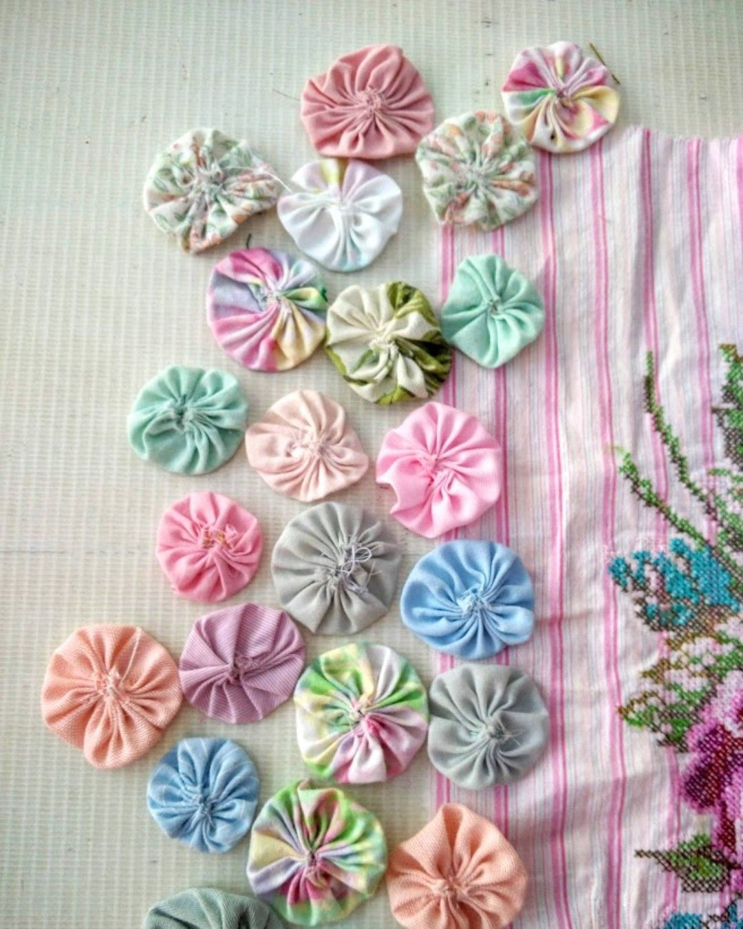 Crazy Quilting Scrapbooking Fabric Jewelry Inspiration Craft Kit  in Copper Colors for Fabric Collage