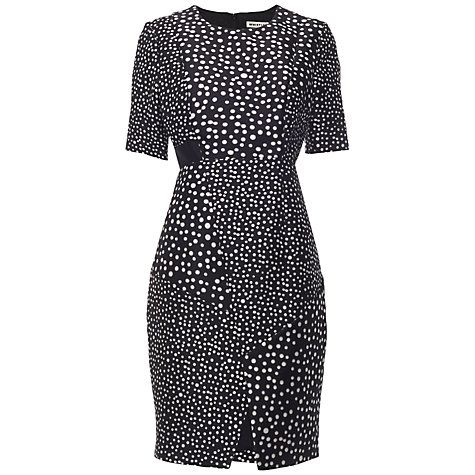 Buy Whistles Blurred Spot Dress, Black/White Online at johnlewis.com