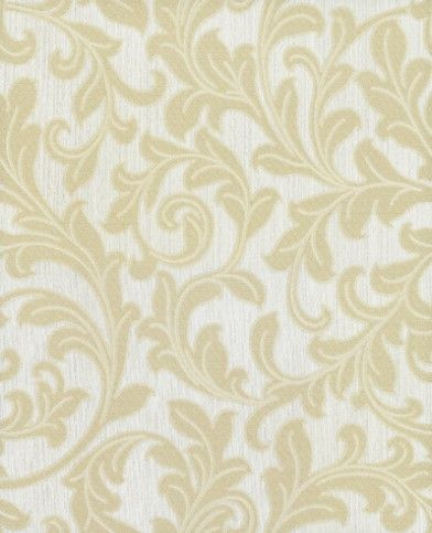 Sigma (1840) - Albany Wallpapers - A luxurious textured floral trail on a heavy weight vinyl backing. Showing in Gold on cream - more colours are available. Please request a sample for true colour match.