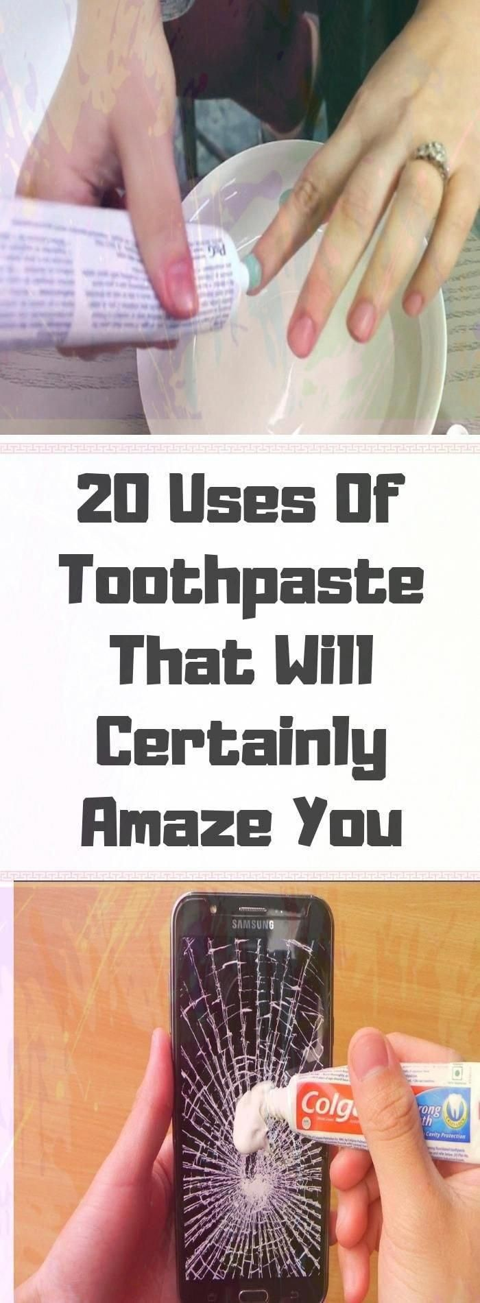 I Never Imagined That Toothpaste Could Do So Many Things. Check Out These 20 Amazing Tricks!#health...