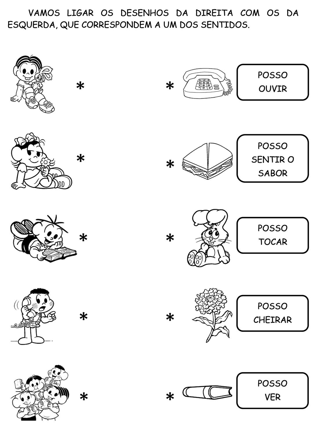 atividades sobre os 5 sentidos no jardim de infancia - Pesquisa ...