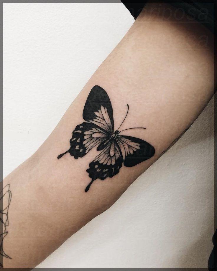 24 Tatuajes de mariposas en el brazo