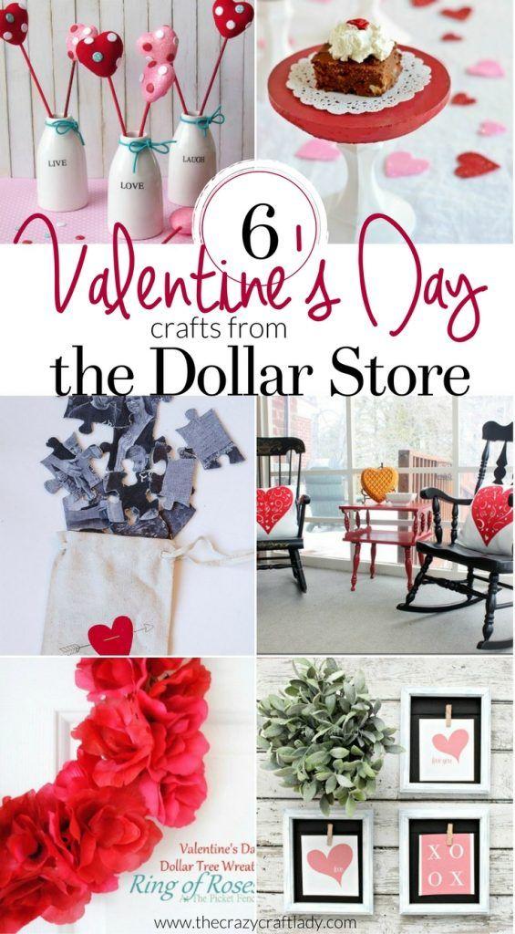 12 Dollar Store Valentine S Day Crafts Valentine Day Crafts Valentine Decorations Valentine