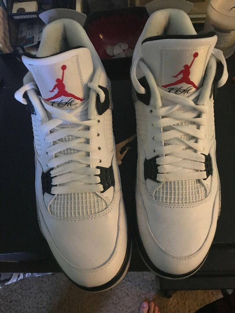 b251a5c34b0 Air Jordan 4 retro og white cement Men Size 12 NEW In Box  fashion   clothing  shoes  accessories  mensshoes  athleticshoes (ebay link)