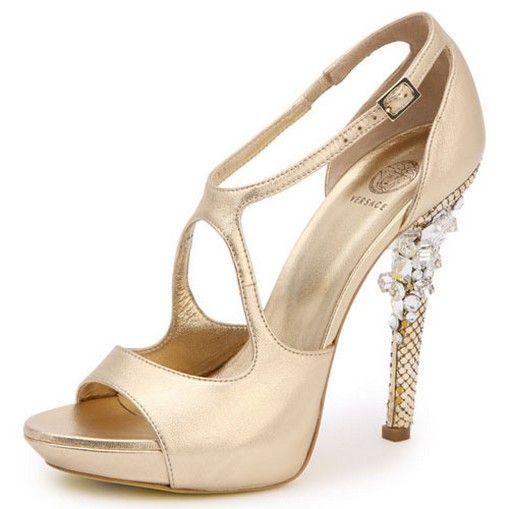 d66fc7c2706 Versace gold bride shoes