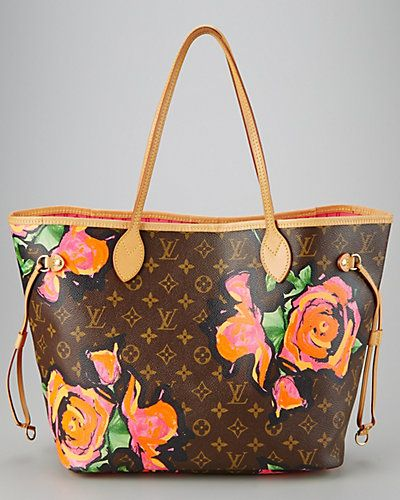 d4b3bbf4ec4 Louis Vuitton Rose by Steven Sprouse Monogram Canvas Neverfull ...