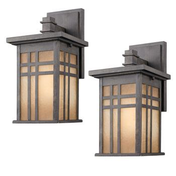 Laurel Designs Outdoor Wall Light Weathered Iron Coach Lamp 2 Pack Compare Product Rated