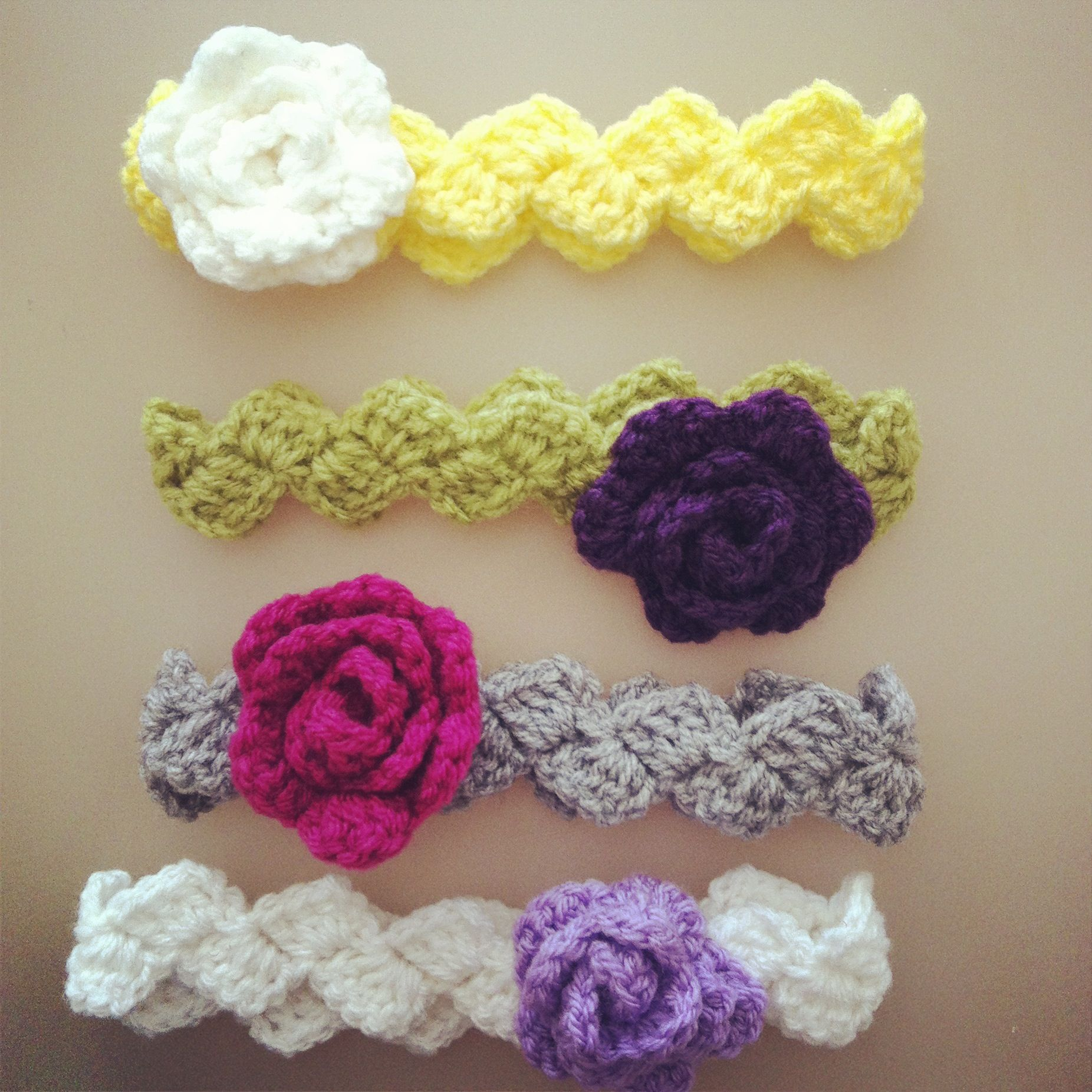 My handmade crochet baby headbands made to order | Food | Pinterest ...