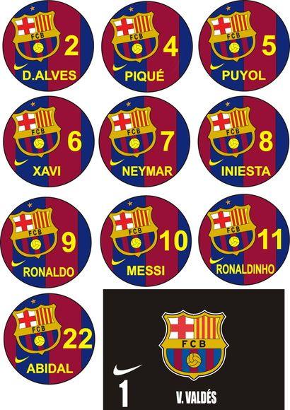 cdce32d91a73a Time+de+botão+do+Barcelona+The+Best+São+10+botões+de+acrílico+torneado.