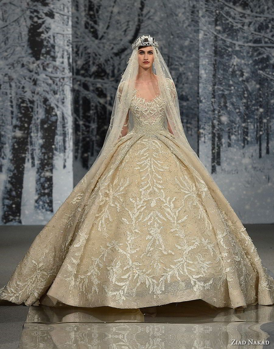"""Ziad Nakad Couture Fall 2017 Dresses — """"The Snow Crystal"""" Collection ..."""
