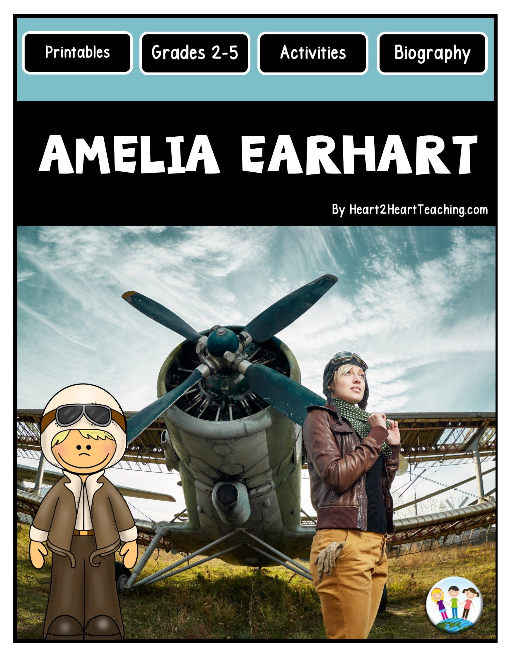 The Life Story Of Amelia Earhart Freebie In With