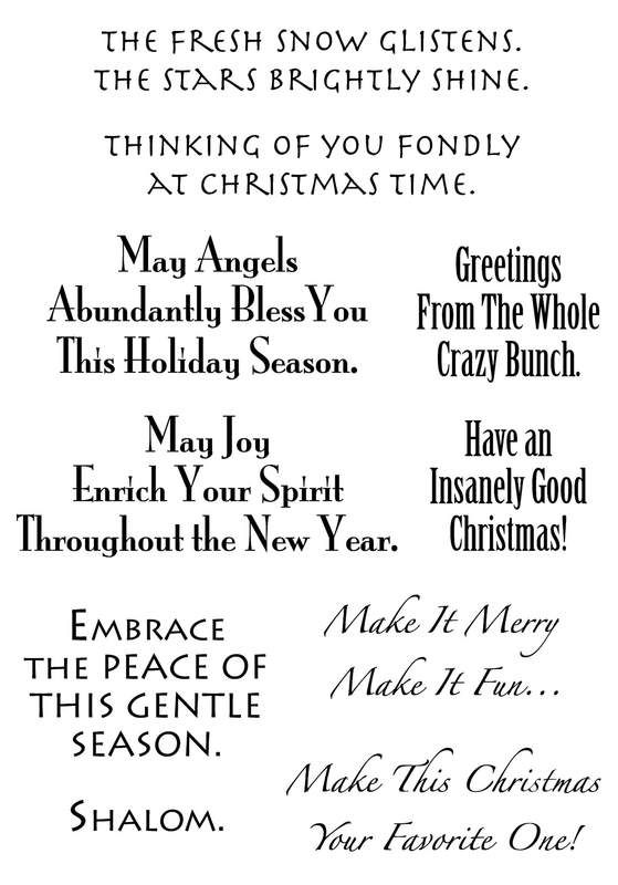 Christmas #2 Words To The Rescue Clear Stamp Set by Art Gone Wild