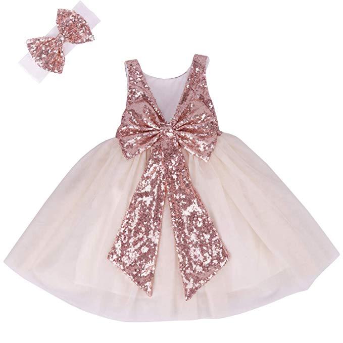 Cilucu Flower Girl Dress Baby Toddlers Sequin Dress Tutu Kids Party Dress Bridesmaid Wedding Gown,Formal Wedding Dresses For Men