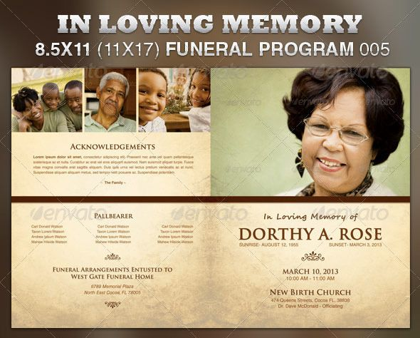 In Loving Memory Funeral Program « 6 Dollar Flyers 6 Dollar - funeral flyer template