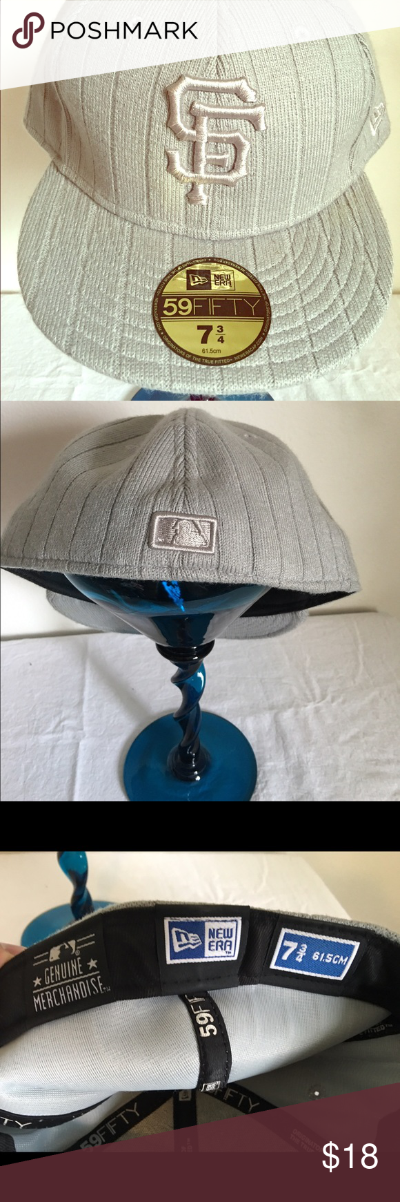 New Era S.F Hat!🤘🏻 Grey Quilted New Era Hat! Excellent condition! Price Firm unless bundled! New Era Accessories Hats