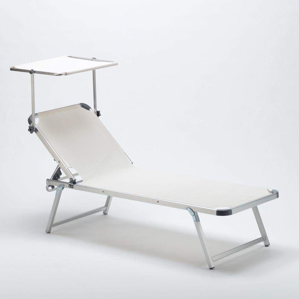 Bain De Soleil Pour Plage Et Piscine Avec Son Parasol Reglable Nettuno Bain De Soleil Parasol Chaise Longue