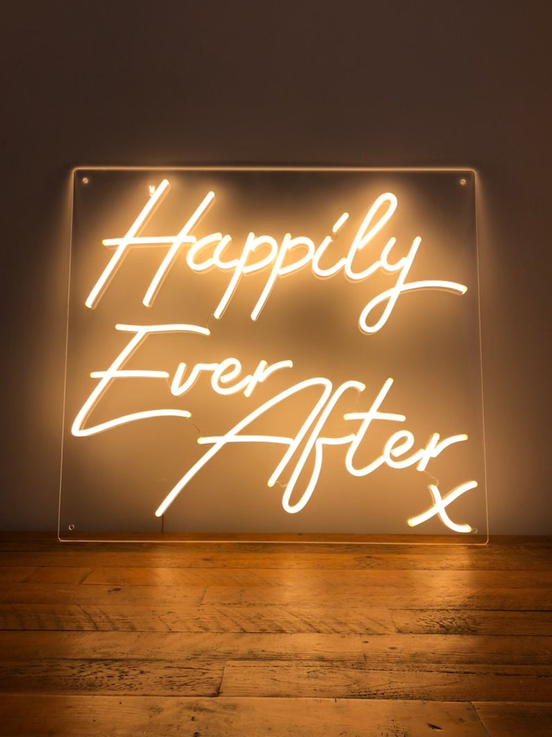 Happily Ever After Led Neon Sign Derby United Kingdom Neon Signs Neon Wedding Wedding Neon Sign