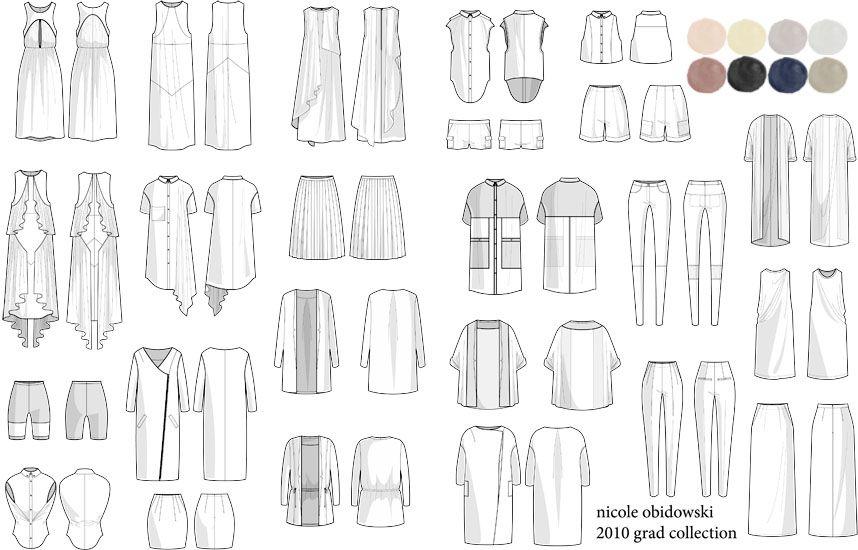 flat sketches for moi Pinterest Sketches - fashion design resume