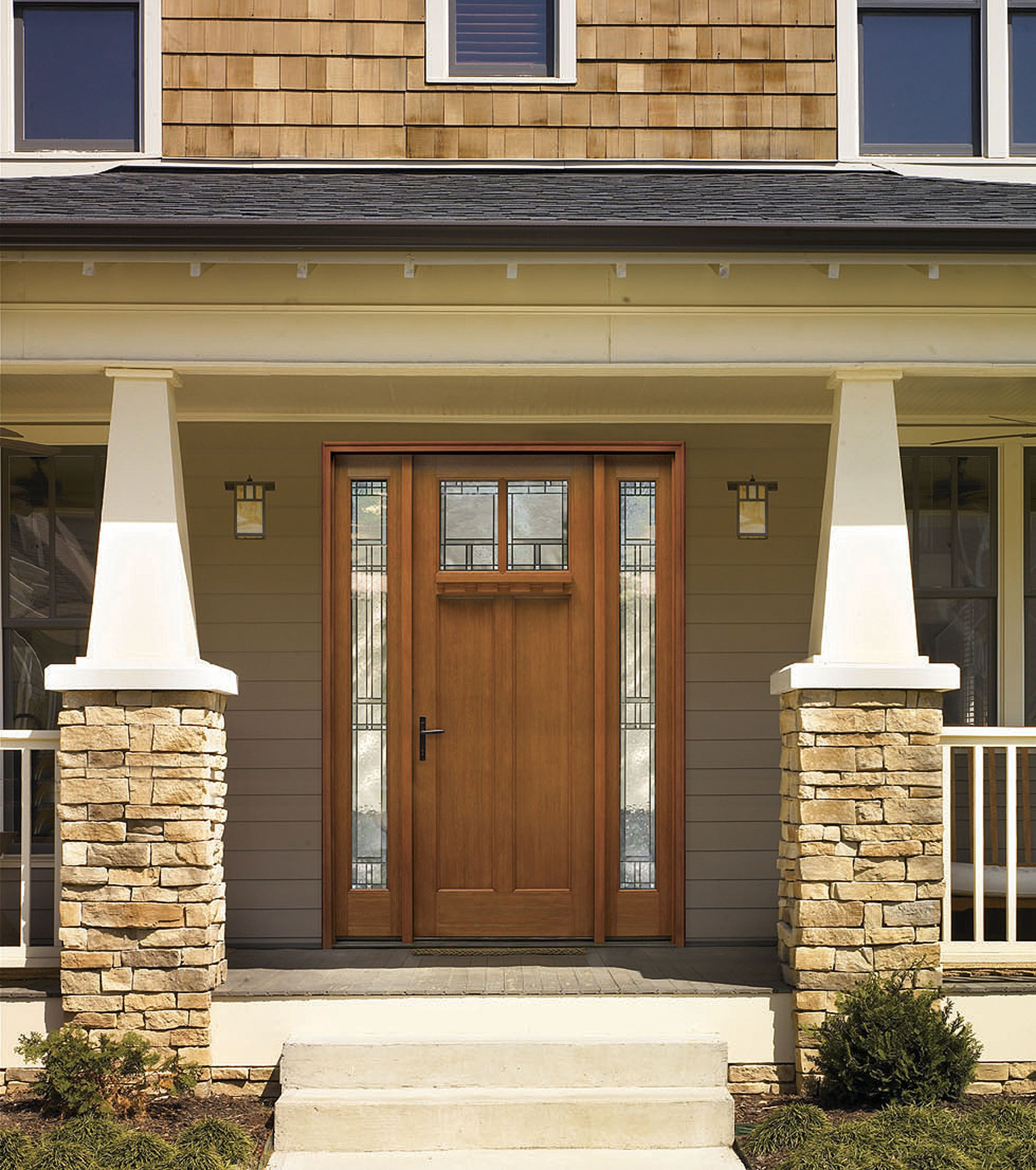 Classic craft american style collection fiberglass door for Therma tru classic craft american style collection