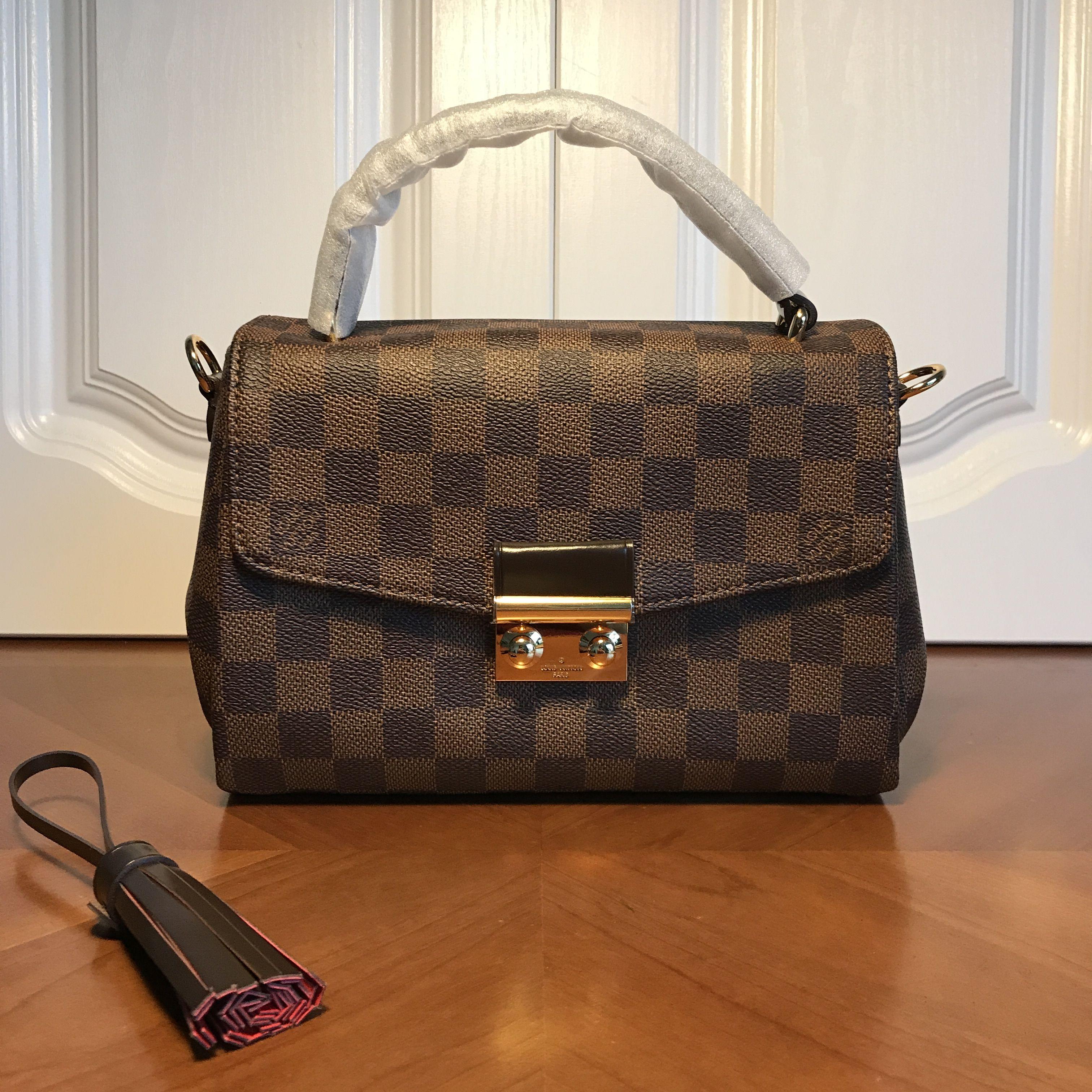 Louis Vuitton lv croisette handbag Damier ebene  616aed7fd36df