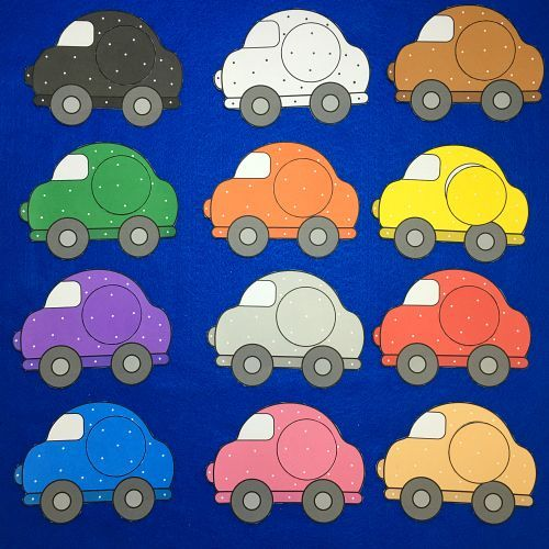 car color match for toddlers and preschool | preschool file folder ...