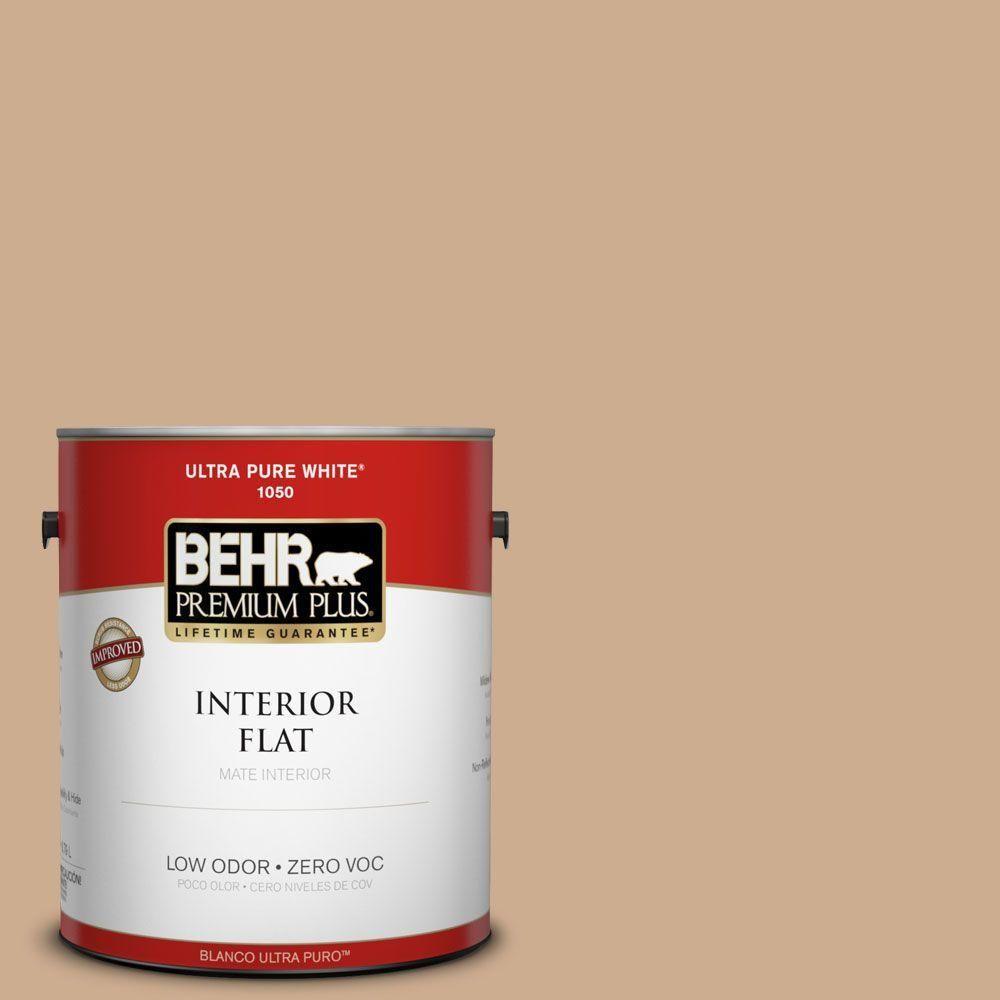 BEHR Premium Plus 1-gal. #ppf-42 Gathering Place Zero VOC Flat Interior Paint, Ppf-42 Gathering Place Flat